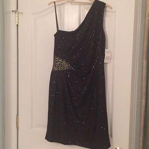 Jackie Jon NY one shoulder dress size 12 NWT